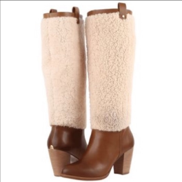 b451f8186a7 New Ugg Ava Exposed Fur Chestnut tall boots🔥sz 8 NWT